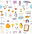 Laboratory icons pattern vector image