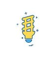light icon design vector image