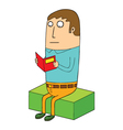 Man reading book vector image vector image