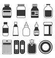 medicine icons set vector image vector image