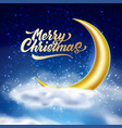 merry christmas magic night sky with cloud vector image