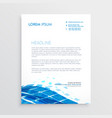 modern letterhead template design with blue vector image vector image