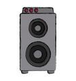 music amplifier speaker vector image