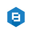 number 8 icon blue hexagon flat icon vector image vector image