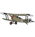 Old germany militarybiplane vector image