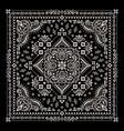 ornament bandana print traditional vector image vector image