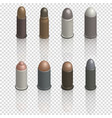 photorealistic cartridges with a bullet isometric vector image vector image