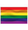 Rainbow flag movement background vector image