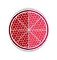 red garnet flat icon vector image