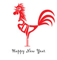 rooster bird concept chinese new year ro vector image