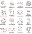 set icons related to business management -5 vector image