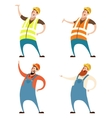 Set of builders vector image vector image