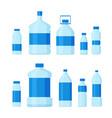 set plastic bottles empty vector image