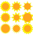 Set sun flat design vector image
