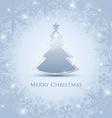 Silver Christmas tree vector image