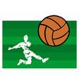soccer players big shot vector image vector image