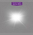 star on a transparent backgroundlight effect vector image
