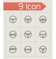 steering wheels icon set vector image vector image