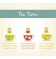 tea time fruit tea infographics vector image