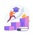 university graduation concept metaphor vector image vector image