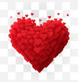 valentines day heart on transparent background vector image vector image