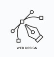 web design flat line icon outline vector image