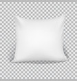 white pillow elements of bedroom home hotel vector image vector image