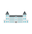 white royal castle city icon flat style vector image vector image
