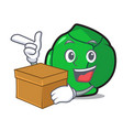 with box brussels character cartoon style vector image