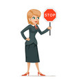 women with stop sign fighting gender inequality vector image