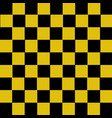 yellow and black checkered background vector image