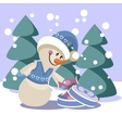 Snowman color 19 vector image