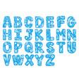 floral alphabet flower decoration letter design vector image