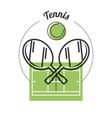 set concept icon tennis sport vector image
