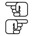finger point vector image