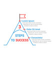 3 steps to success vector image vector image