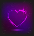 background of neon heart and small hearts on a vector image vector image