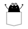 black monster silhouette in the pocket hands up vector image vector image