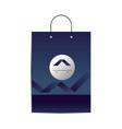 branding shopping bag design vector image