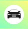 car flat round icon and sedan automobile symbol vector image