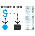 Cashflow Icon with Flat Set vector image vector image