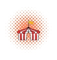 Circus tent comics icon vector image vector image