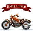 Colored retro motorcycle design vector image vector image
