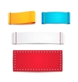 Colorful Blank Fabric Labels or Badges vector image vector image