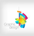 concept symbol graphic design colorful pencil vector image