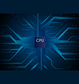 cpu hi-tech technology information communication vector image vector image