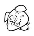 cute happy pig vector image vector image