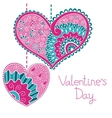 Decorative card with hearts for Valentine day vector image vector image
