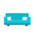 divan icon with pillows vector image