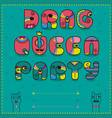 drag queen party funny invitation vector image vector image